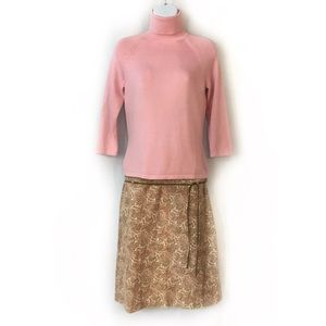Ann Taylor Sweater Turtleneck Skirt Set Outfit